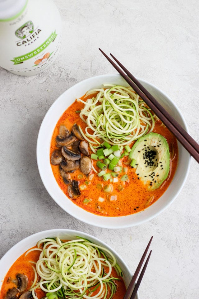 Easy Thai Mushroom Zoodle Soup