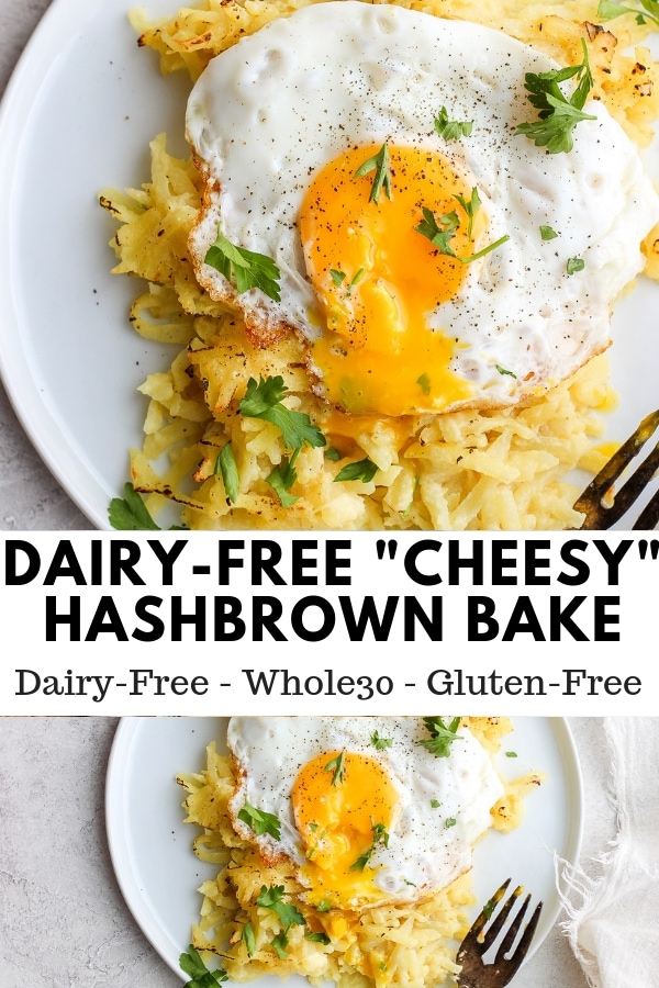 Dairy Free Cheesy Hashbrown Bake