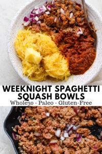 Easy Sausage Spaghetti Squash Bowls - Easy Sausage Spaghetti Squash Bowls - the easiest dinner ever for those nights when you don't feel like stressing about dinner ... but want something healthy! #whole30recipes #spaghettisquashrecipes #dairyfreerecipes #spaghetti #healthyspaghetti #spaghettisquashbowls #paleorecipes #glutenfreerecipes #glutenfree
