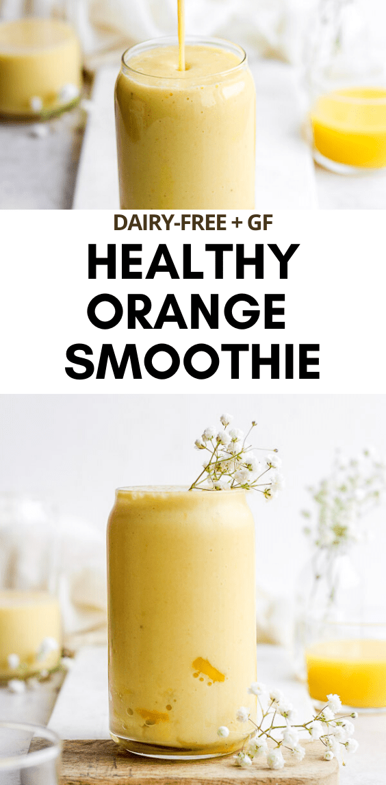 Immune Boosting Orange Smoothie - packed with healthy nutrients to help you keep feeling your best! (Dairy-Free) #immunitysmoothie #immunityboostingsmoothie #healthyorangesmoothie #orangesmoothie #vitamincsmoothie #dairyfreesmoothie #almondmilksmoothie
