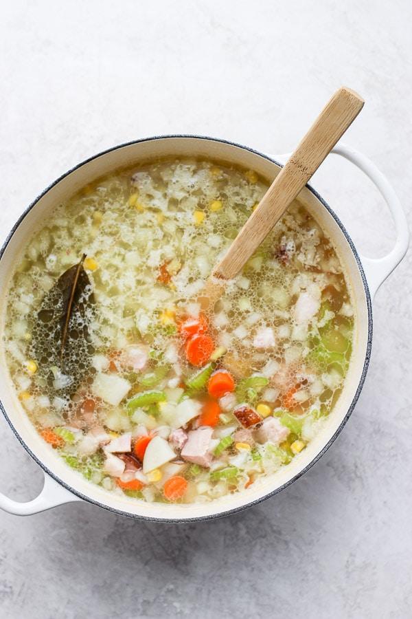 Easy Leftover Ham Bone Soup