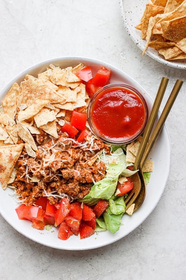 healthy taco salad recipe