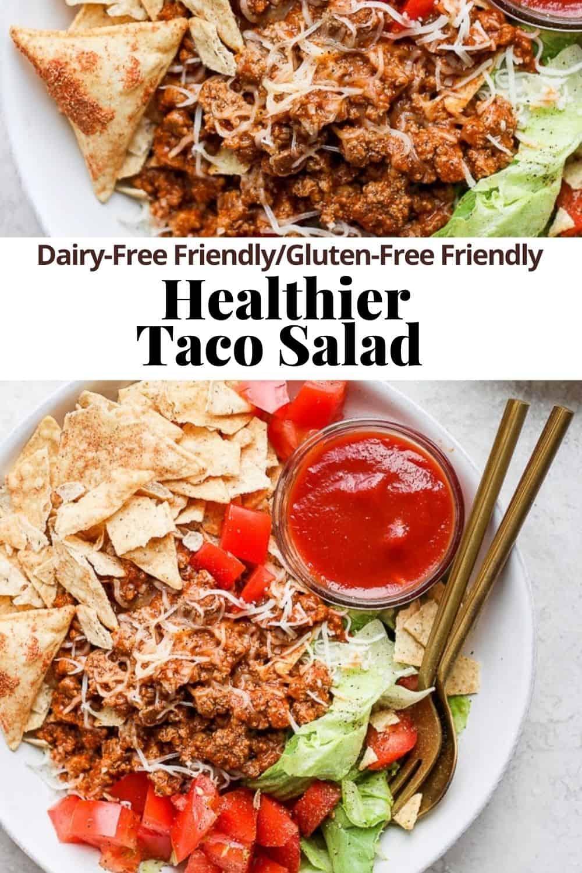 Pinterest pin for taco salad.