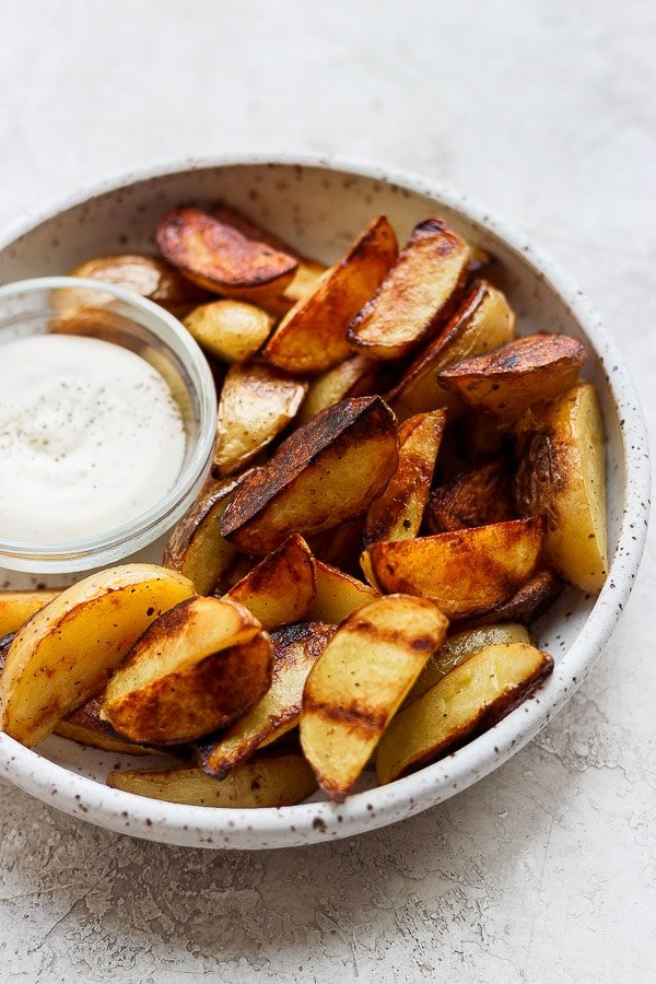 grilled potato wedges with ranch