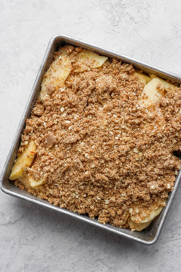 Apple Crisp in a pan.