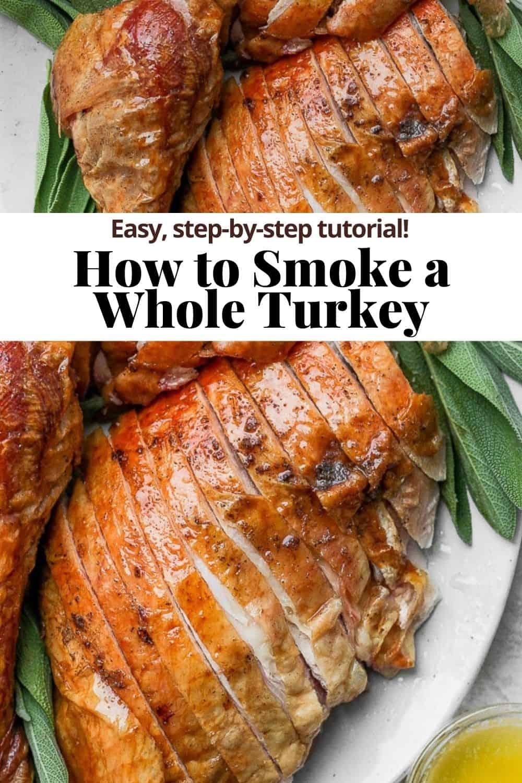 Pinterest pin for smoked turkey.