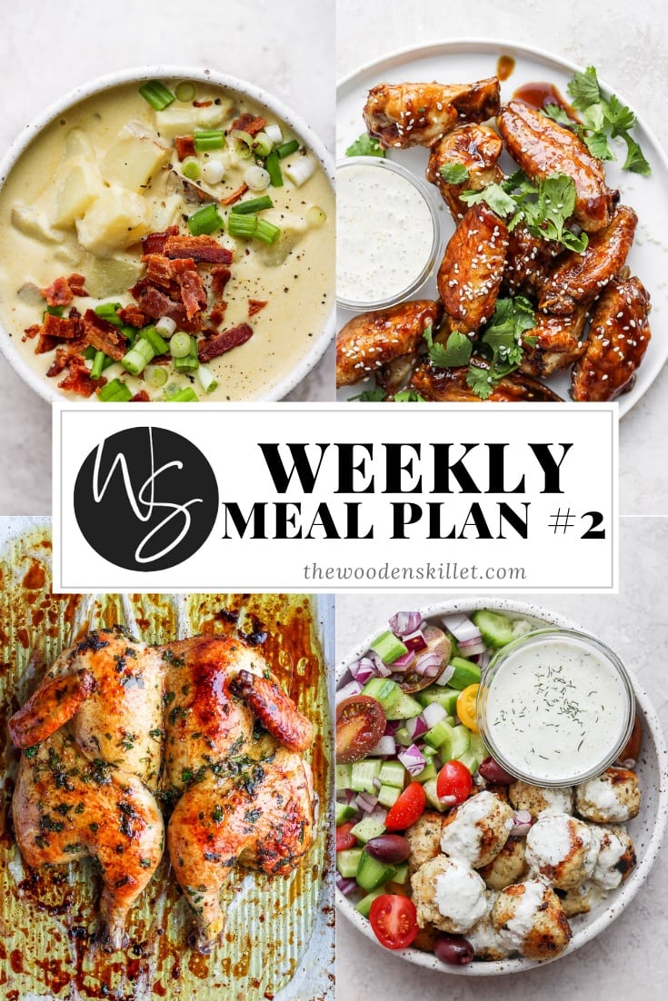 Pinterest image of weekly meal plan #2.
