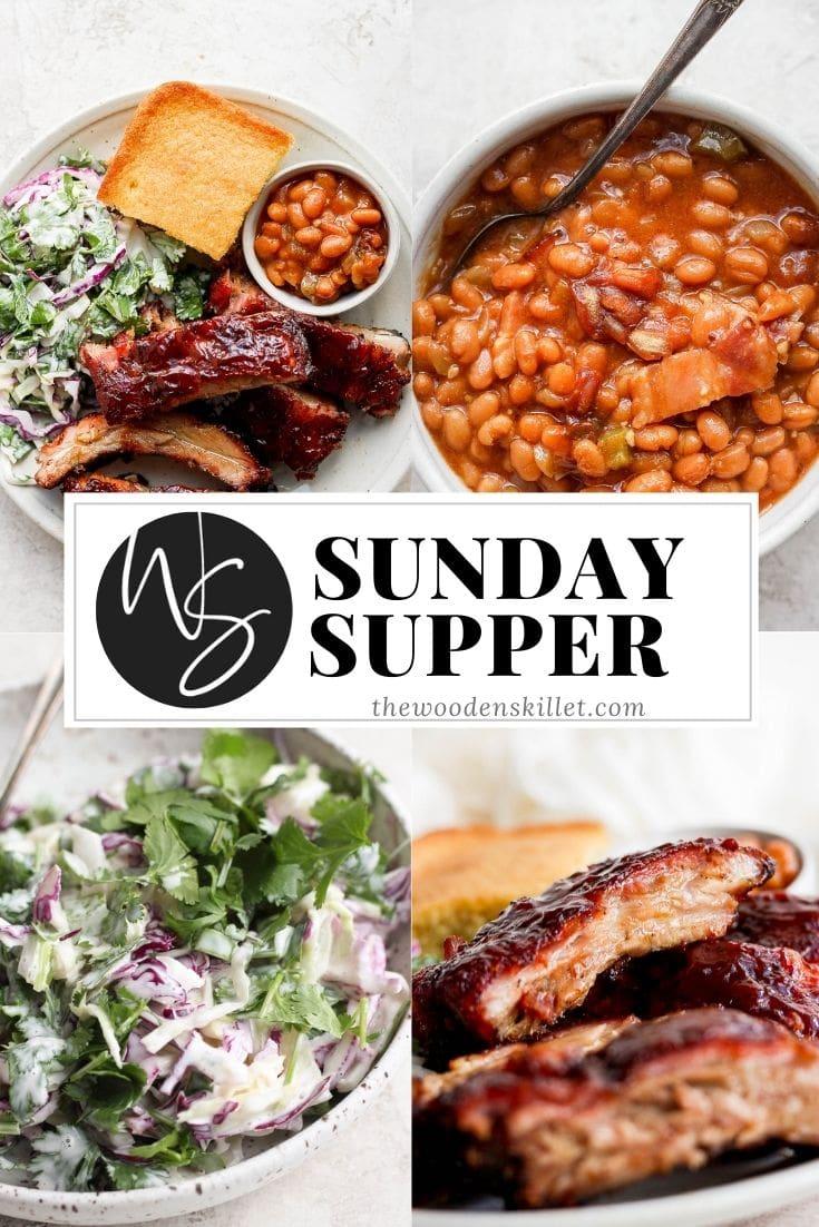 Pinterest image for Sunday Supper #3.