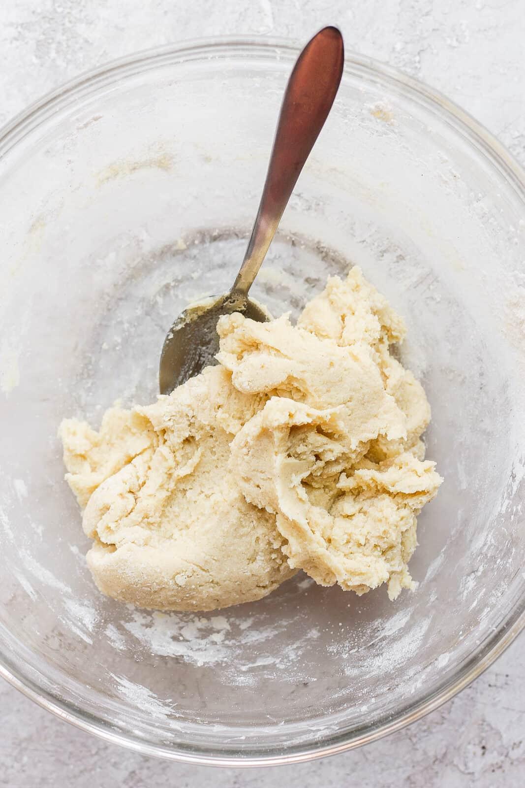 Dough to make sugar cookies.