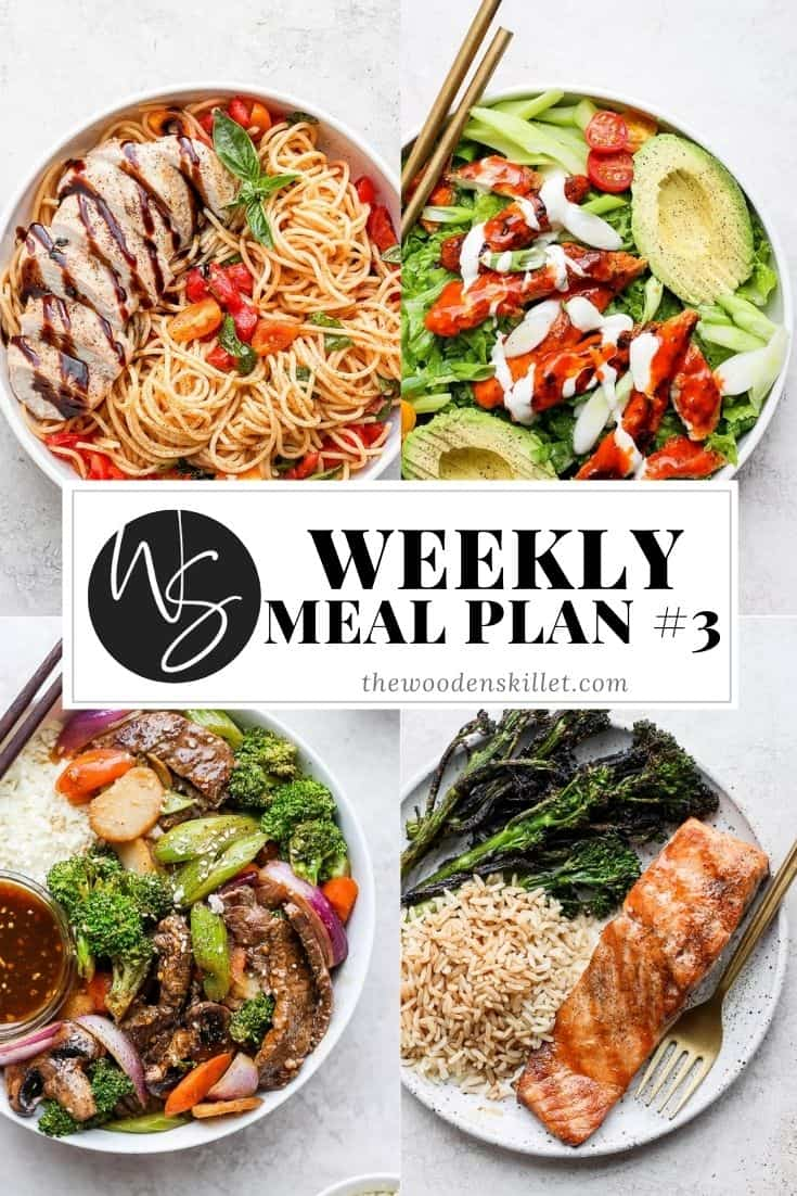 Pinterest pin for weekly meal plan.