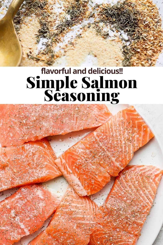 Pinterest image for salmon seasoning.