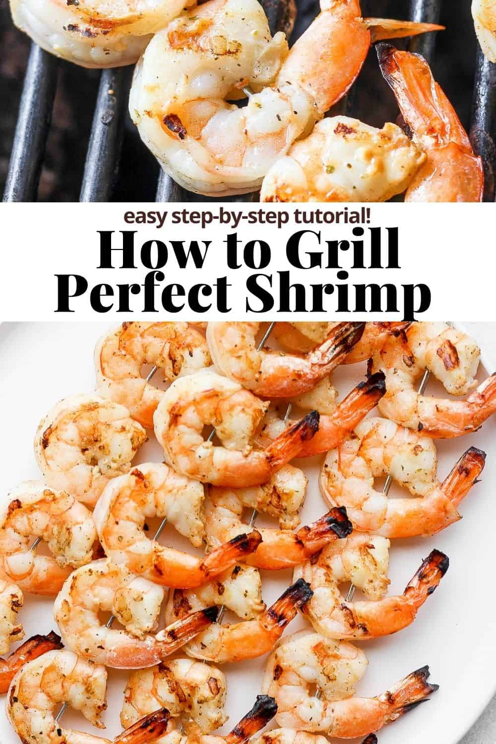 Pinterest image for how to grill shrimp.