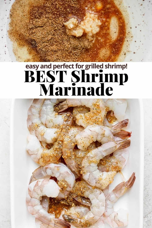 Pinterest image for shrimp marinade.