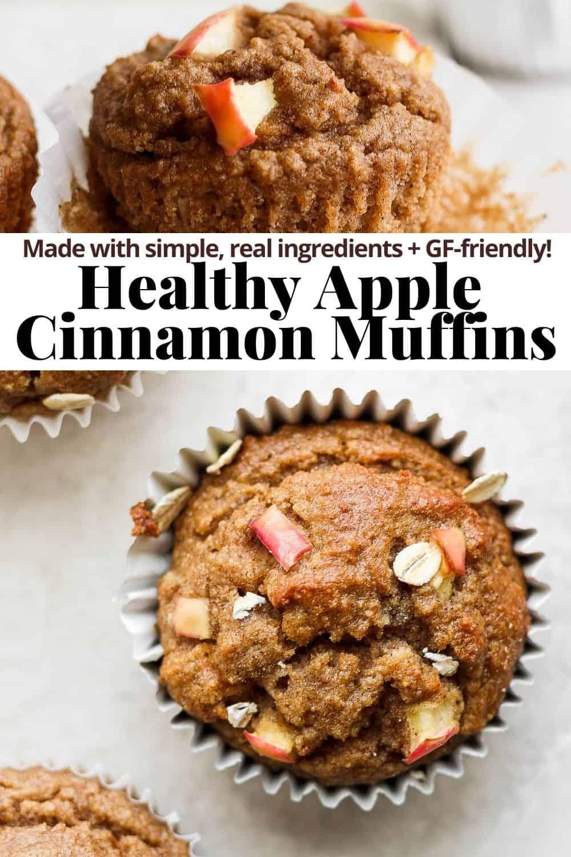 Pinterest image for apple cinnamon muffins.