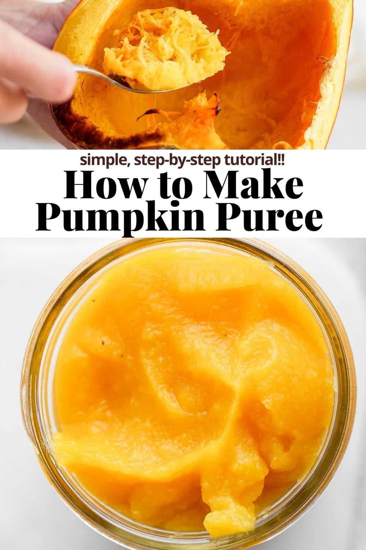 Pinterest image for pumpkin puree.