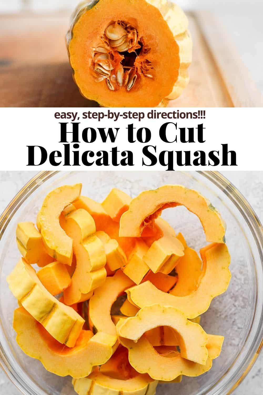 Pinterest image for delicata squash.