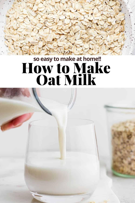 Pinterest image for oat milk.