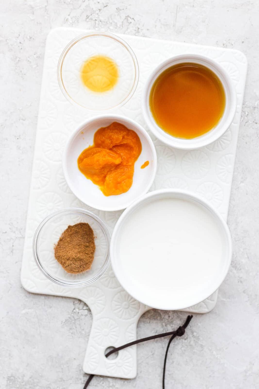 Ingredients in individual bowls.