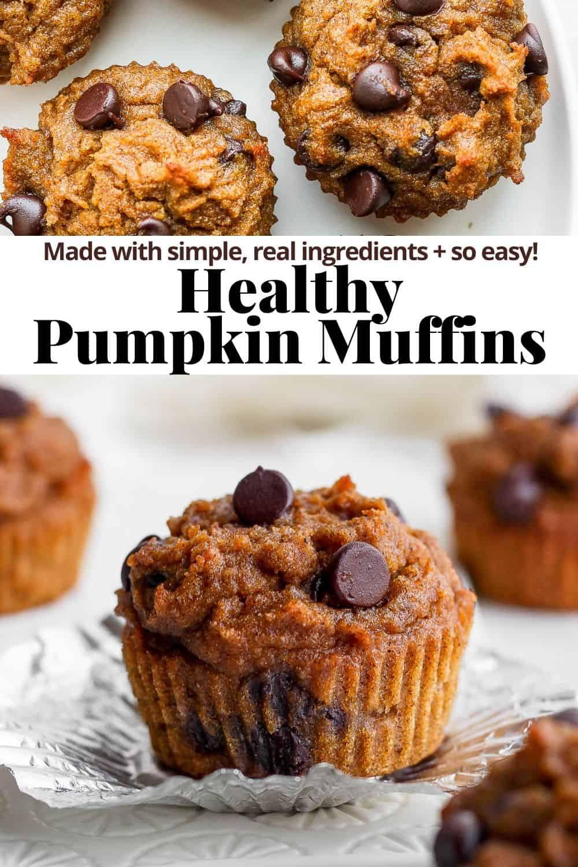 Pinterest image for pumpkin muffins.
