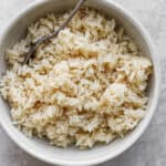 Bowl of coconut rice,